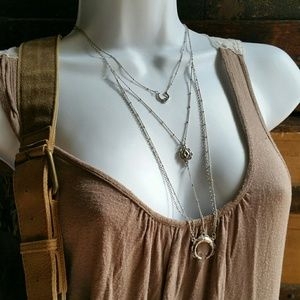 American Eagle Outfitters Triple Layer Necklace